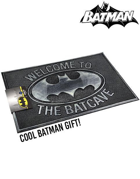 DC Comics Batman Doormat -  Enter The Batcave Rubber Welcome Home Mat Gift