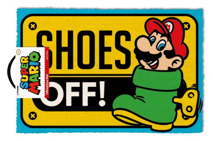 Super Mario Shoes Off Door Mat