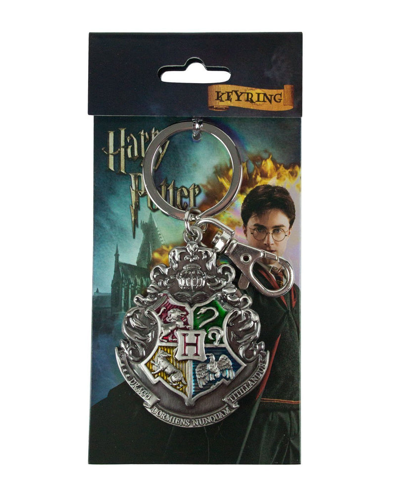 Harry Potter Hogwarts Crest Pewter Keyring