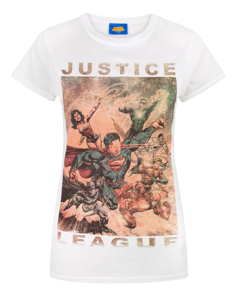 Justice League Characters Action Women's T-Shirt