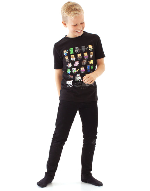 MINECRAFT BOYS T-SHIRT- Minecraft Sprites tee has short sleeves and a stylish crew neck for kids; is it the perfect gift for all fans of the popular Mojang video game, Minecraft!