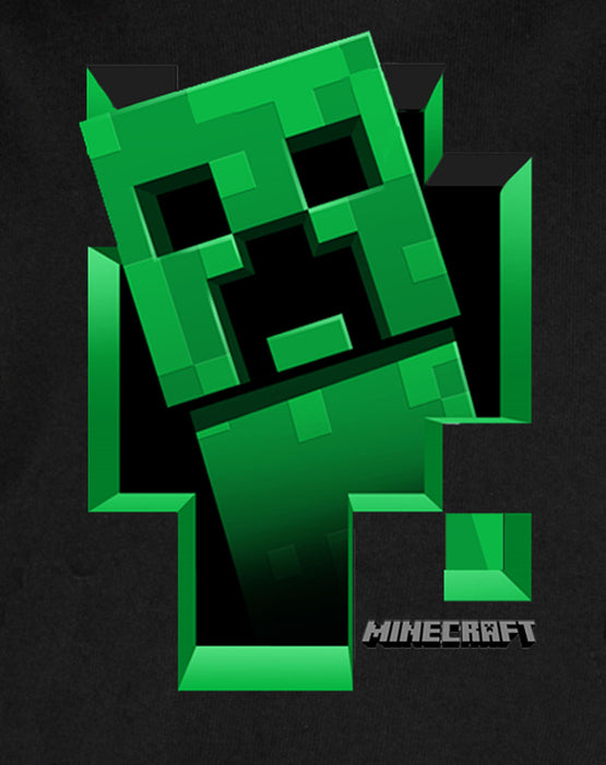 Minecraft Official Creeper Inside Boys Hoodie