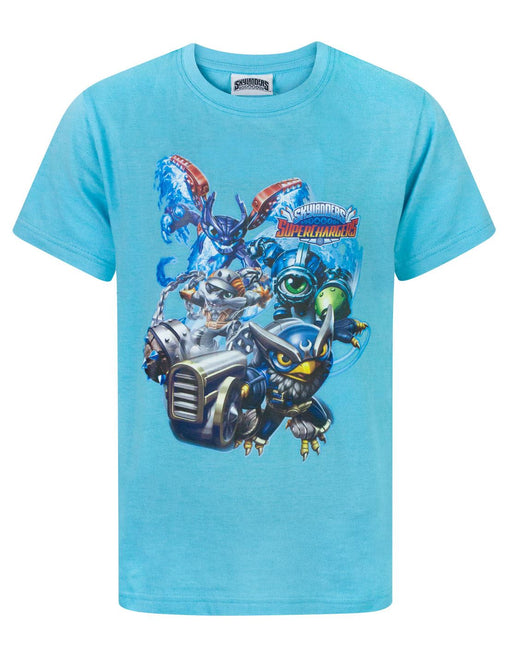 Skylanders Superchargers Characters Blue Boy's T-Shirt