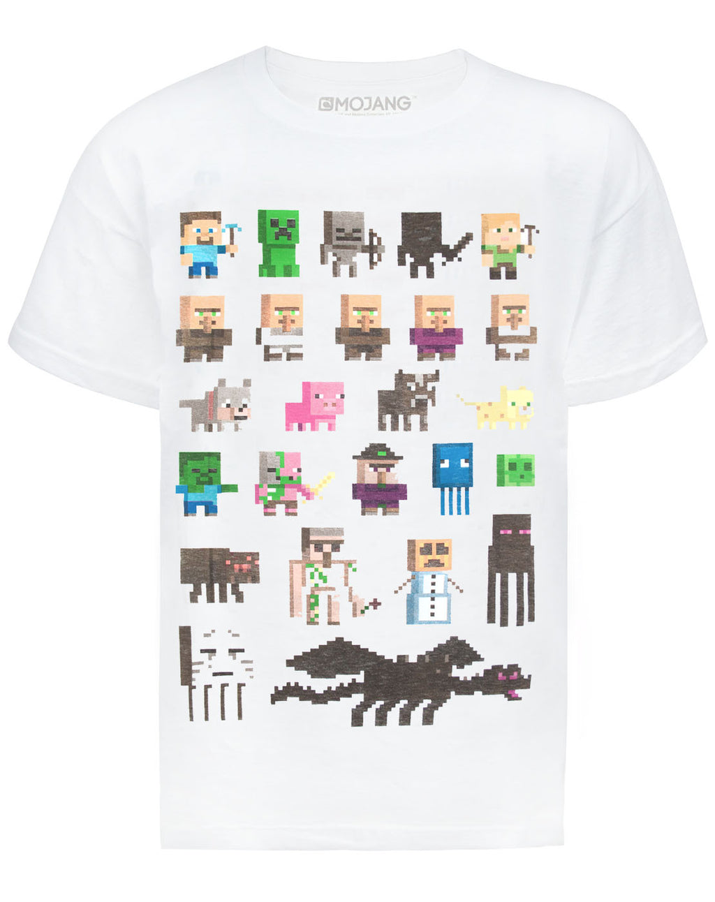 Minecraft Sprites Boys White T-Shirt