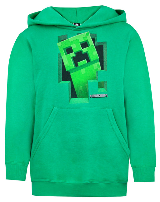 Minecraft Green Creeper Boys Hoodie Kids Long Sleeve Hooded Sweater