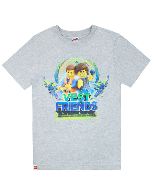 Lego Movie 2 Emmet And Rex Vest Friends Boys T-Shirt