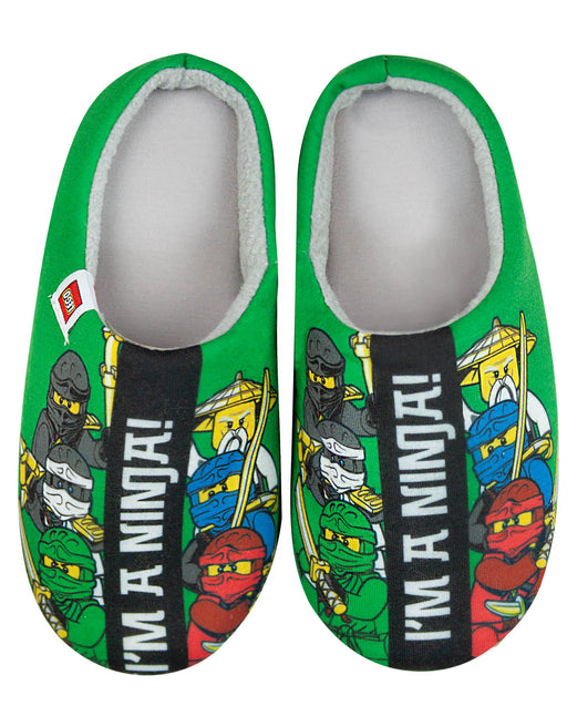 Lego Ninjago Im A Ninja Green Boys Slipper