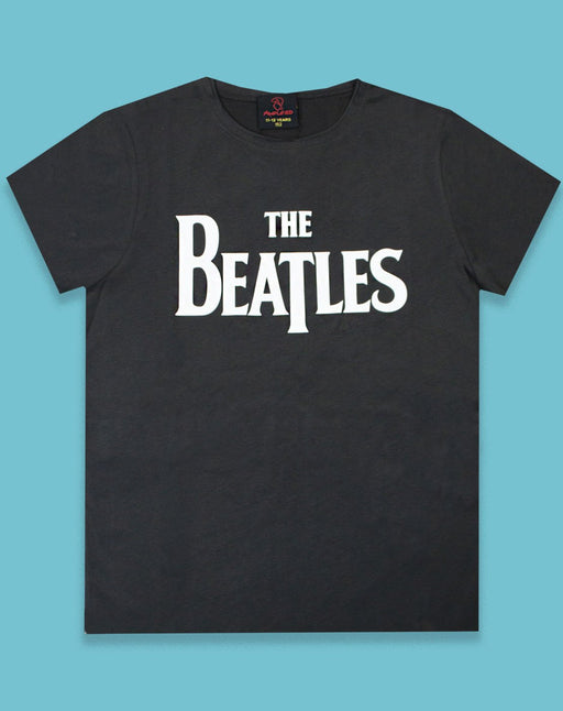 Amplified the rolling stones rock band vintage charcoal boys kids lad children male tee t-shirt t shirt shirt top tshirt band paul mcCartney George harrison ringo star john lennon