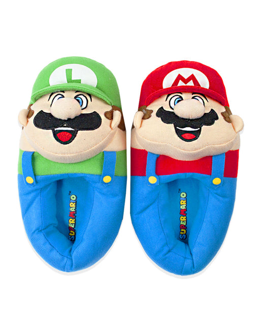Super Mario Bros Mario And Luigi 3D Kid's Slippers