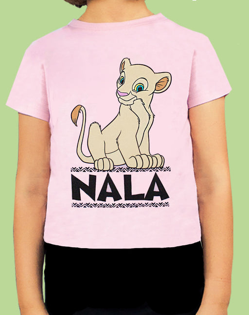 Disney Lion King Nala Queen Of The Jungle Girl's Pink Short Sleeve T-Shirt
