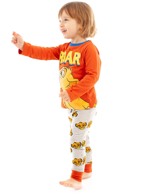 Disney Lion King Simba Roar Boys Long Pyjamas Sleepwear Set
