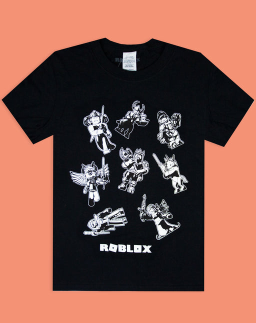 Roblox Characters In Space Kid S Black T Shirt Short Sleeve