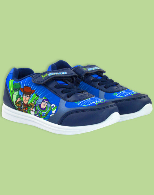Toy Story Buzz Woody Rex Disney Boys Blue Trainers Kids Sports Shoe