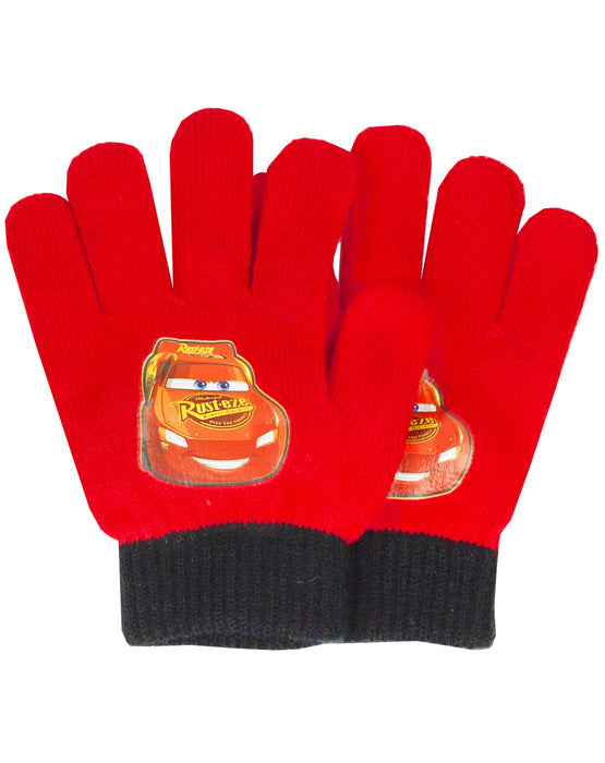 Disney Pixar Lightning Mcqueen Boy's Hat Gloves and Snood Set