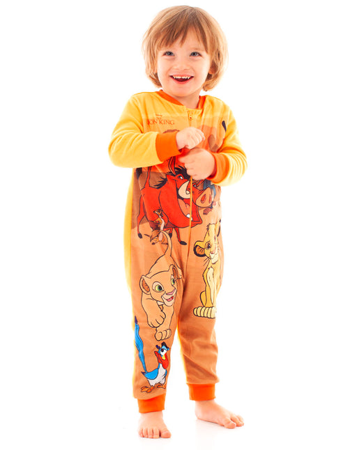 Disney The Lion King Simba and Nala Characters Boy's Onesie Kids Sleep Suit