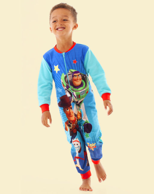 Disney Pixar Toy Story 4 Kid's Onesie Woody Buzz and Forky Boys Sleep Suit