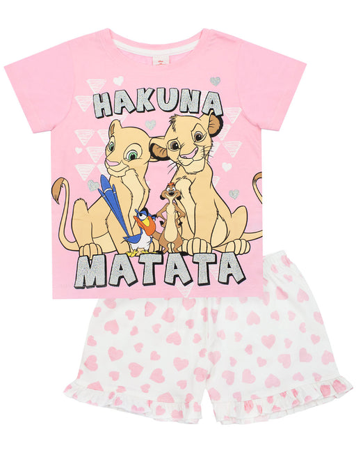 Disney Lion King Hakuna Matata Girl's Short Pyjamas