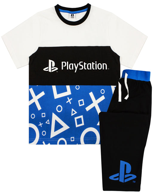 Playstation Pyjamas - Boys Gamer Gifts - T-Shirt & Trousers PJ Set For Kids and Teens