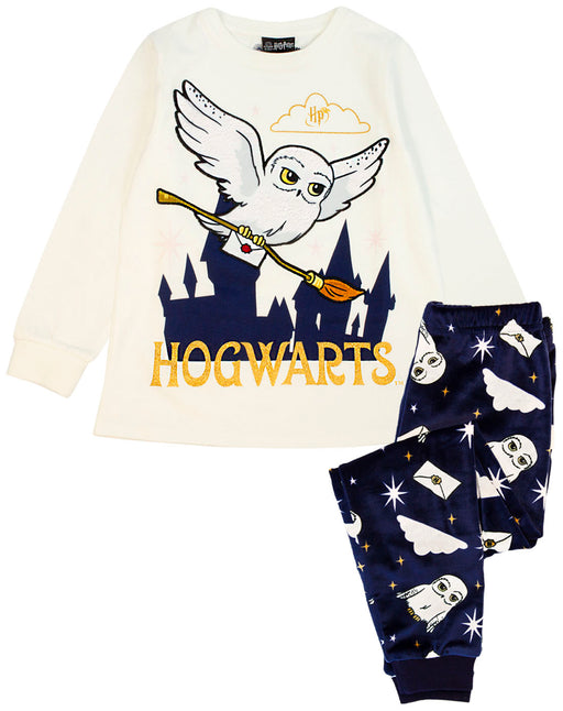 Harry Potter Hedwig Girl's Soft Velour Fleece Pyjamas