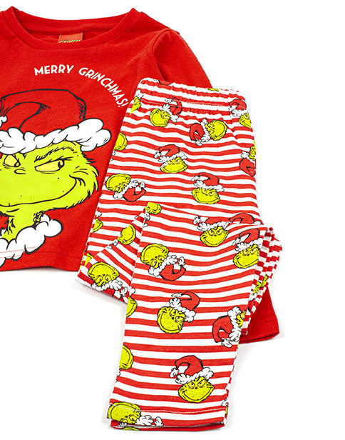 THE GRINCH FAMILY PYJAMAS SETS - Our adorable family set of Christmas pyjamas are perfect for your Christmas eve matching nightwear. Great as a Christmas gift or for children and adults who love the Dr Seuss movie.