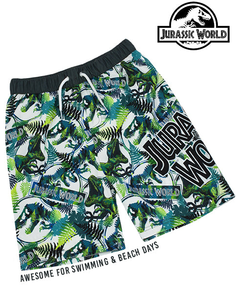 AWESOME JURASSIC WORLD SWIMMING SHORTS FOR BOYS - Our super cool Jurassic World bathing trunks for children is the best way to splash around during holiday vacations, swimming on beach and pool days whilst staying comfortable in dinosaur style!