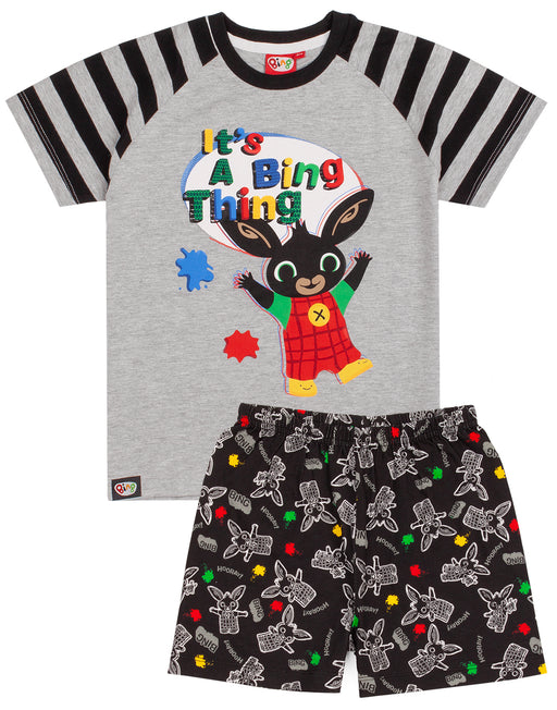 BOYS BING BUNNY T-SHIRT AND SHORTS PJS – Our Bing pyjamas for kids and toddlers come with a stylish short sleeve top matched perfectly with Bing shorts. The pjs are perfect for CBeebies Bing Bunny TV series fans making a cool gift for birthdays, costume parties and all special occasions.