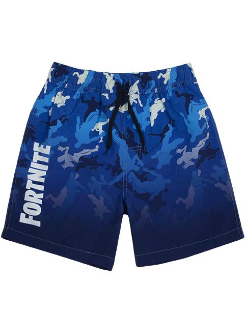 AWESOME LIGHT OR DARK FORTNITE SWIMMING SHORTS FOR BOYS - Our super cool Fortnite bathing trunks for children and teens are available in dark or light blue and are the best way to splash around during holiday vacations, swimming lessons, beach and pool days whilst staying comfortable in gamer style!