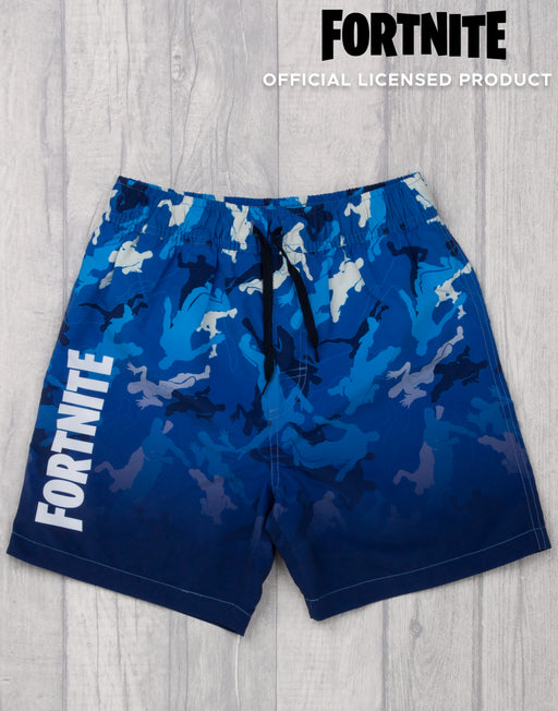 Fortnite Swim Shorts For Boys | Dark Blue Gamer Swimming Trunks