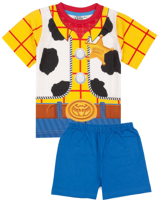 Our awesome Woody fancy dress sleepwear outfit comes with a cowboy t-shirt matched with vibrant blue shorts making the perfect gift for Disney fans!