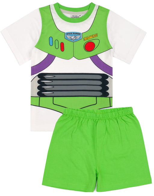 Our awesome Buzz Lightyear fancy dress sleepwear outfit comes with a space ranger t-shirt matched with vibrant green shorts making the perfect gift for Disney fans!