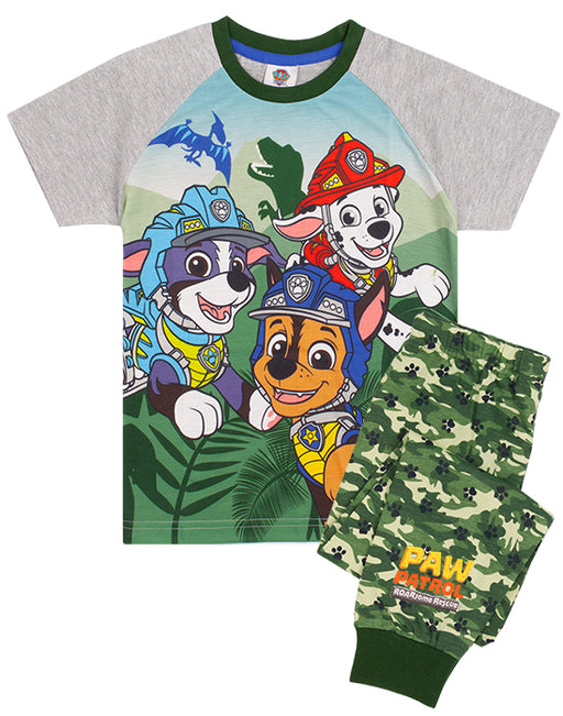 AVAILABLE IN VARIETY OF SIZES RESCUE PUPS PJ'S FOR KIDS - The pyjama set for children and toddlers comes in sizes 18-24 months, 2-3 years, 3-4 years, 4-5 years, 5-6 years and 6-7 years offering a comfortable and regular boy fit made for ultimate comfort perfect for everyday Roar-some rescue adventures!