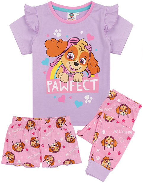 The pyjama set for children and toddlers comes in sizes 18-24 months, 2-3 years, 3-4 years, 4-5 years, 5-6 years and 6-7 years offering a comfortable and regular girls fit made for ultimate comfort perfect for everyday rescue pup adventures!