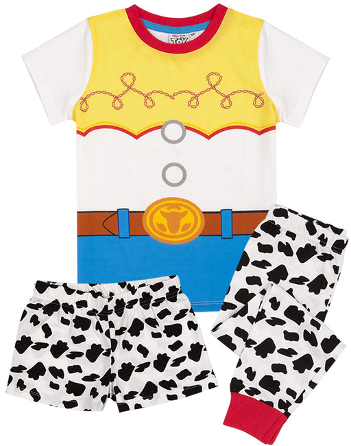 Step into the role of Jessie the Cowgirl with our nightwear set that includes a short sleeve character t-shirt that comes with an option of long or short bottoms perfect for Toy Story dreaming!