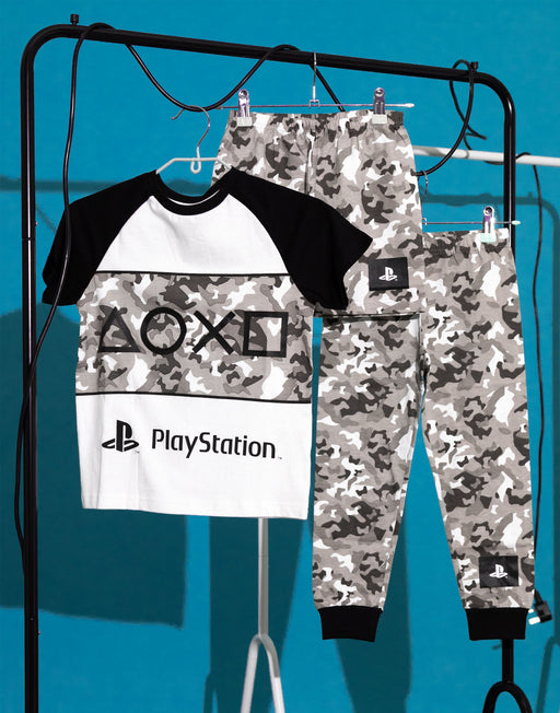 PlayStation Pyjamas Boys Game Camo PJs Long OR Short Options