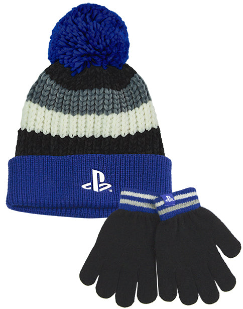 PLAYSTATION BOBBLE HAT & GLOVES FOR KIDS AND TEENS - The boys & girls PlayStation hat and gloves set comes in one size that is suitable for children and teens. The PlayStation merchandise gift set is super soft and cosy ideal for keeping warm during those colder days.