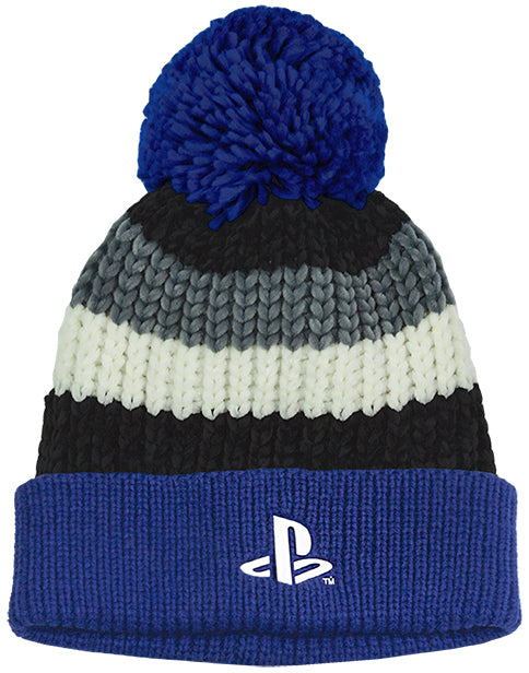 MIXED MATERIALS PLAYSTATION WINTER HAT & GLOVES - The gamer hat is made from 57.7% acrylic & 42.3% polyester whilst the gloves are 85.9% acrylic, 13.5% polyester & 0.6% elastane ensuring they are super soft and comfortable. The gamer hat features a stylish pom pom bobble making a must have gamer gift set for birthdays and special occasions.