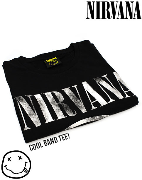 NIRVANA Distressed Logo Mens T Shirt Unisex Official Licensed Band Merch