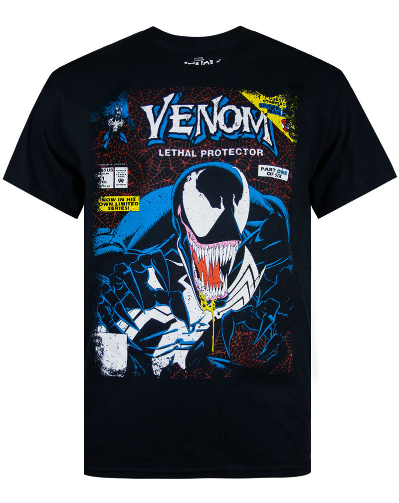 Marvel Venom Comic Men's Black T-shirt