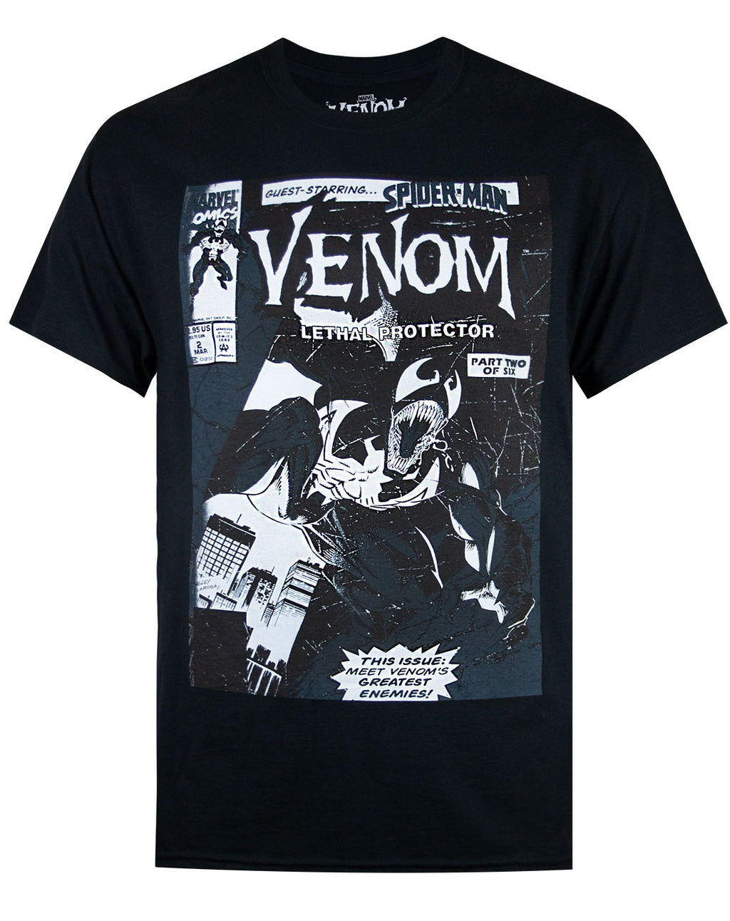 Marvel Venom Comic Tonal Men's T-shirt