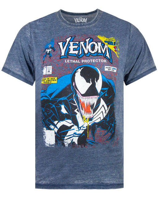 Marvel Venom Comic Cover Men's Burnout T-shirt
