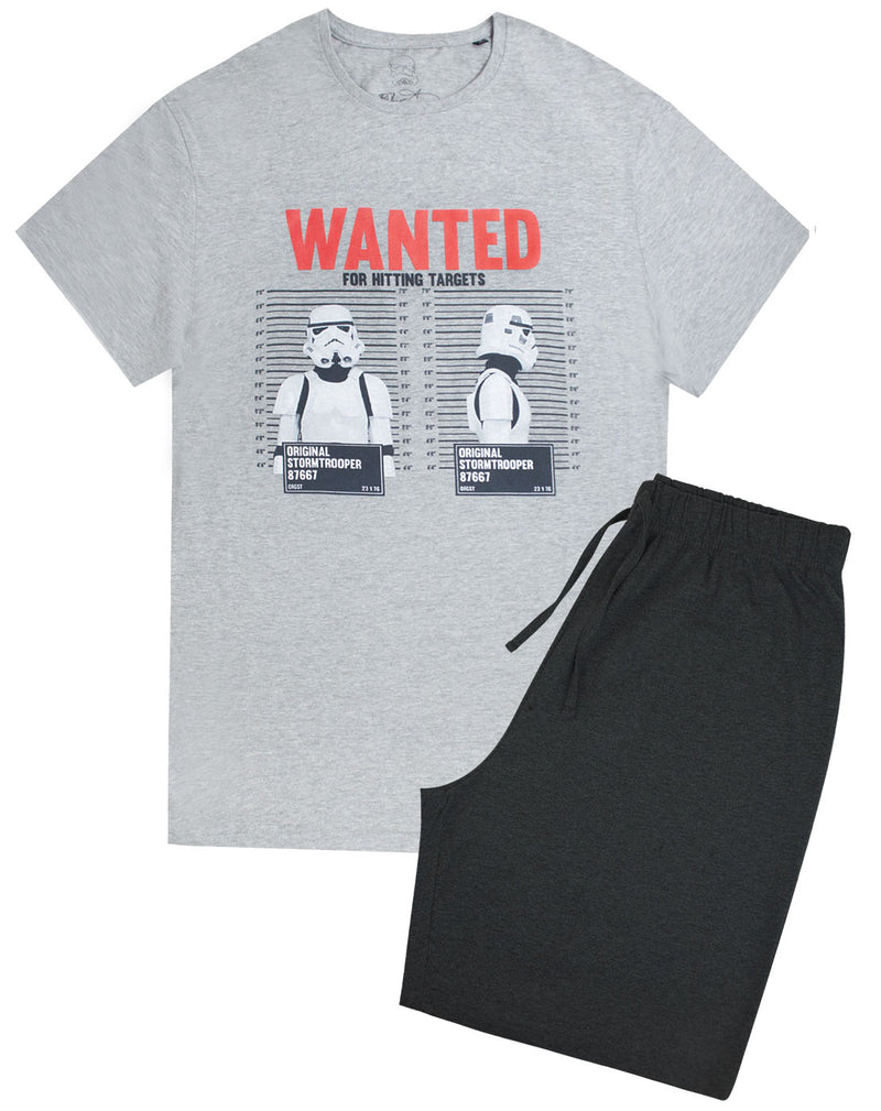 Star Wars Storm Trooper Wanted Men's Pyjama Shorts Lounge Set