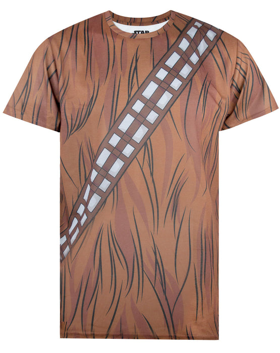 OFFICIAL Star Wars Chewbacca Vintage Rock Poster Brown Mens T-Shirt Top NEW