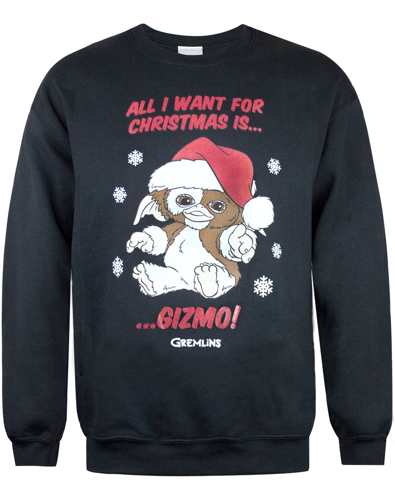 Gremlins All I want For Christmas Is Gizmo Sweatshirt