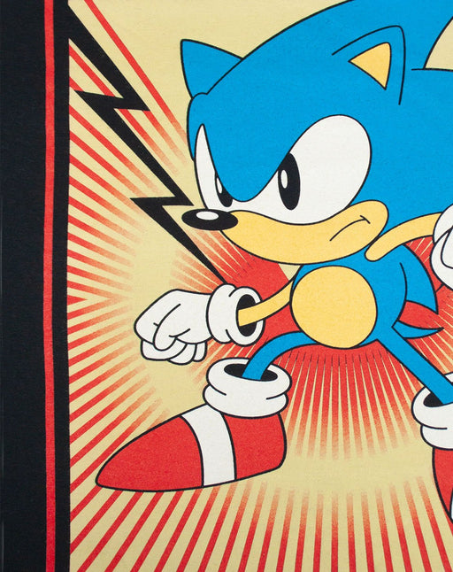 Sonic The HedgeHog Propaganda Poster Men's T-Shirt