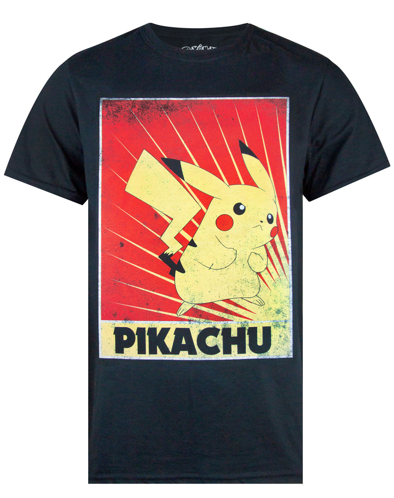 Pokemon Pikachu Propaganda Poster Men's T-Shirt