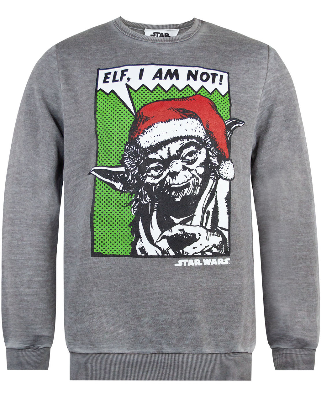Star Wars Yoda Elf I Am Not Burnout Christmas Sweatshirt