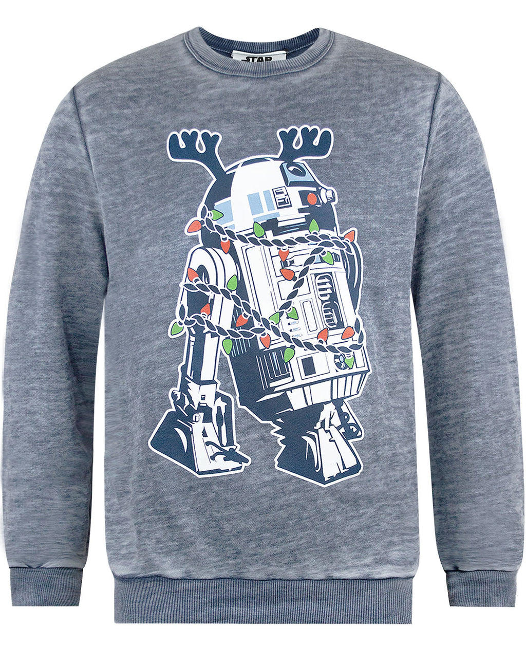 Star Wars R2D2 Decorations Burnout Christmas Sweatshirt