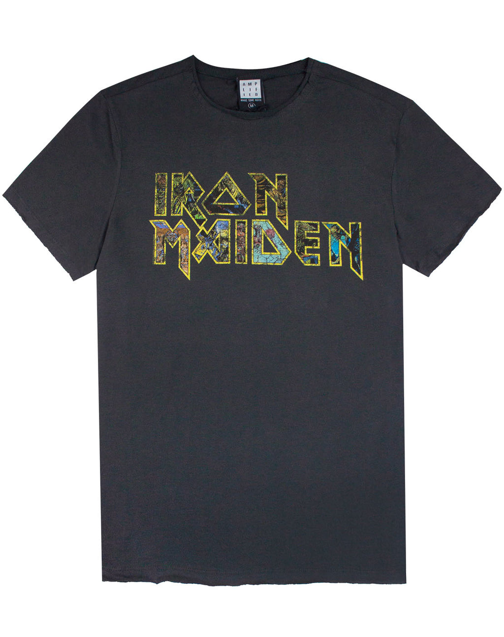 Amplified Iron Maiden Eddies Logo Mens T-Shirt