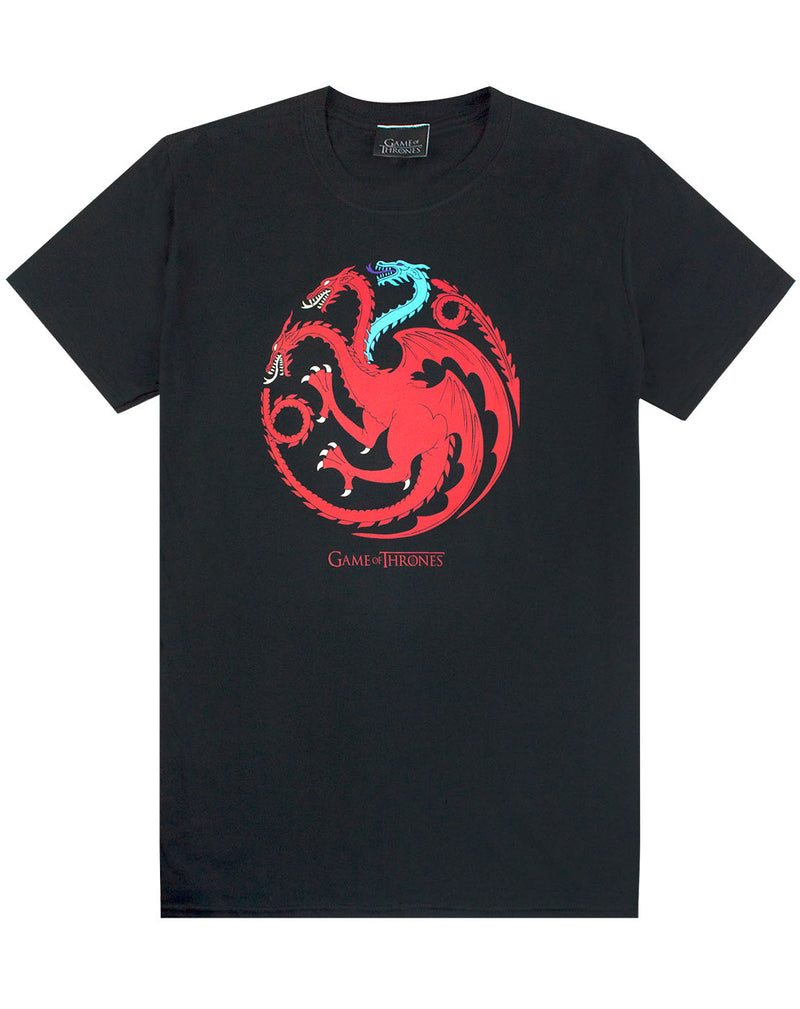 Game Of Thrones Ice And Fire Dragons Emblem Men's T-Shirt