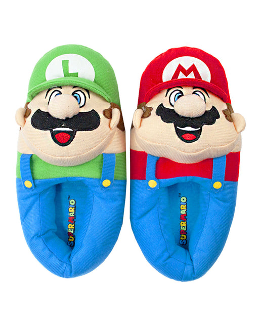 Nintendo Super Mario Bros Mario And Luigi Men's Novelty 3D Slippers